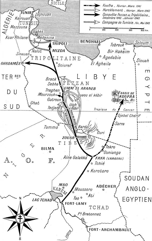 Opérations et Campagnes Tchad - Lybie- Tunisie 1940-1943